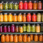 Canned survival food stockpile