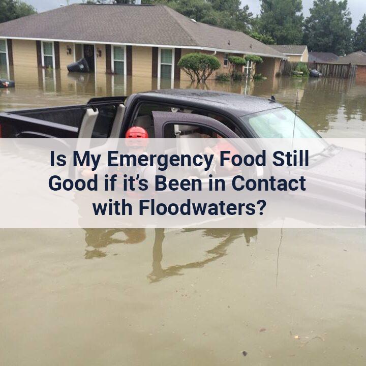 Flood victim being rescued. Is my emergency food still safe after flood?
