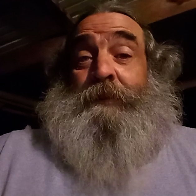 A picture of real 4Patriots customer, William P, as he describes his experience with emergency food kits.