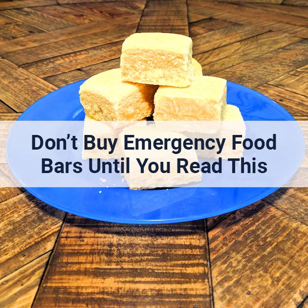 Emergency Food bars sitting on a plate
