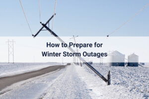 power line down during a winter storm power outage